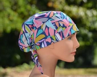 Scrub Hats // Scrub Caps // Scrub Hats for Women // The Hat Cottage // Small // Fabric Ties // Geofabulous