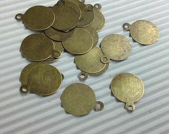 500pc antique bronze 10mm iron pendant-5135x5