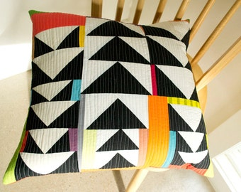 Flying Geese Improv Pillow Cover