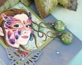 Earring Card ~ Art Greeting Card ~ Masked Butterfly Fairy ~ Watercolor Fairy Card ~ Fairy Card ~ Fairy Jewelry ~ Watercolor Greeting Card