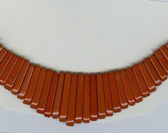 Red Jasper Maxi Cleopatra Graduated Collar Stick Beads Fan 41 Piece Bead Set