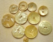 Vintage Wafer Buttons - Pearly Laminated Celluloid