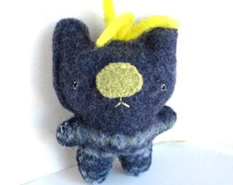 Indigo Bear - Recycled Wool Sweater Plush Toy