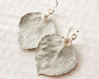 Silver Aspen Leaf Earrings, Nature Earrings, Bridesmaid Jewelry