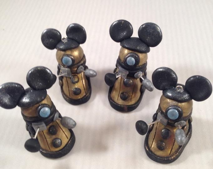 Disneybounding Dalek parody polymer clay pendant Whovian