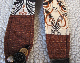 Unique one of a kind Fancy Skull Camera Strap