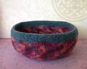 Bowl,  Felted Wool,  Whatnot, Ring, Trinket Bowl, Handmade, Fulled