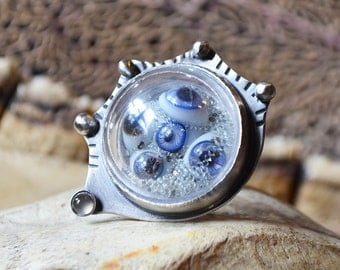 Read It And Weep Glass Eye Ring Made With Antique Eyes From 1800s