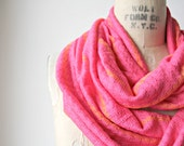 SALE >>>>  Striped//Pink//Coral//Infinity Scarf