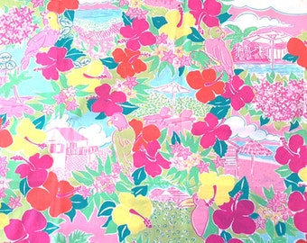 """SALE Lilly Pulitzer Harbor View Fabric 18""""x18"""""""