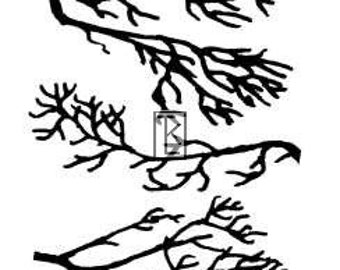 Branches Clear Stamp Texture