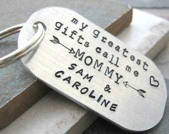 Mother's Day Keychain, My Greatest Gifts Call Me Mommy Keychain, Mom's keychain, personalized with children's names, gifts for mom