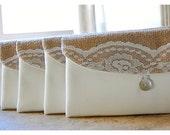 Personalized Bridesmaid Gift Idea, Set 3, 4, 5, 6, Bridesmaid Clutch, Wedding Accessory, Bridesmaid Gift, Wedding Party, Country Wedding
