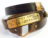 Robin Williams leather bracelet stamped quote