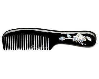 Horn & Shell Hair Comb - Q10687