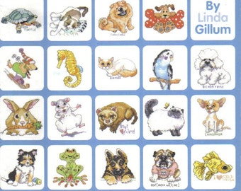 100 More Luvable Pets ~ Cross Stitch Book