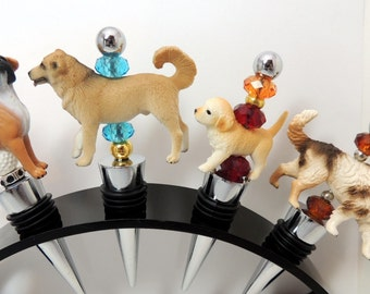 Wine Stoppers Dogs Animals Mixed Breed Shepard Boxer Choice