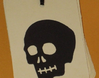 10 Gift Tags Halloween Skulls