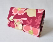 Jewelry Roll - Dogwood Bloom in Berry