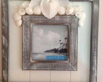 Heart Seashell Picture Frame