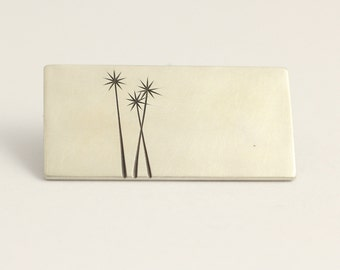 Cabbage Trees Brooch in Sterling Silver rectangle