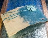 Felted notebook, Opal Flower, Refillable