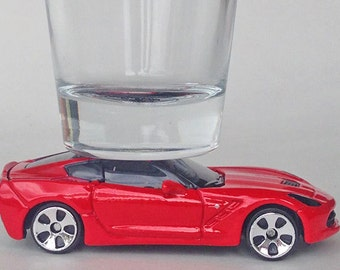 The ORIGINAL Hot Shot Shot Glass, '14 Chevy Corvette Stingray, Maisto
