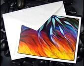 Beadworx - Blank - Single - Note Card with envelope- Fine Art Print -  Dream Catcher