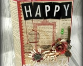 HAPPY MOMENTS All Occasion Interactive  Scrapbook Scrapbooking Chipboard Album with Magnets Closures