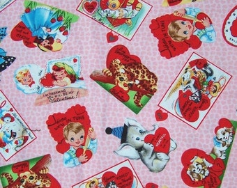 Michael Miller Valentine Fabric Vintage Michael Miller Rare Retro Fabric 1996 For My Valenentine