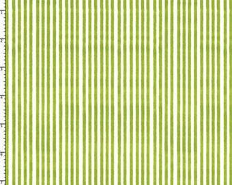 Lazy Stripes - Lime And Red - Fabric From Loralie Designs - Half Yard Set - 2 Prints - 9.75 Dollars