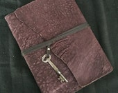 PRUINA/PURPLE NUBUCK lambskin leather soft cover journal/notebook (lined)