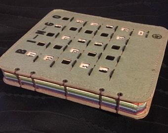Vintage BINGO KING Bingo Book (Small Army Green/Colored Paper)
