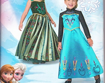 Simplicity 1222 OR 0748 Girls Frozen Anna Elsa Princess Costumes Sewing Pattern Sizes 3-8 New UNCUT