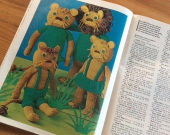 Soft Toys, McCall's Needle Art Volume 3. Knitting Patterns, Sewing Patterns, Crochet Patterns for Stuffed Animals, Dolls, Plush Toys, 1970s