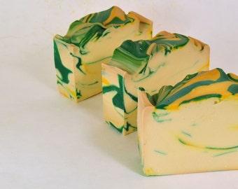 Lemongrass Verbena Soap - Handmade Cold Process Soap, Vegan Soap, Soap for Men