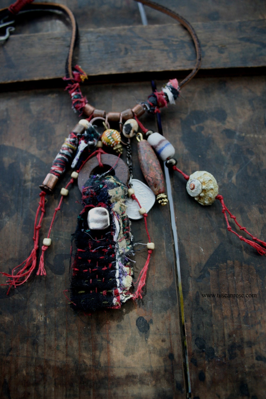 Amulet Jewelry Pendants Sothon: 125 Kantha AMULET Necklace Urban Gypsy Talisman Protective
