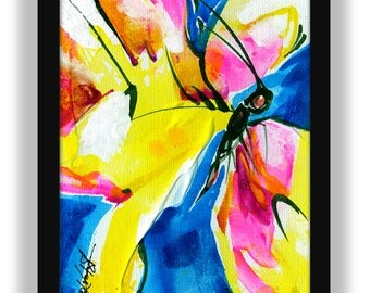 Butterfly Fancy No.1  ... Beautiful Original Colorful Contemporary Abstract art painting by Kathy Morton Stanion EBSQ
