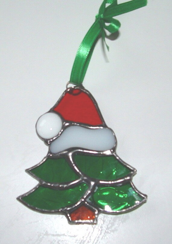 Christmas Tree Stained Glass Ornament Tiffany Style by ...