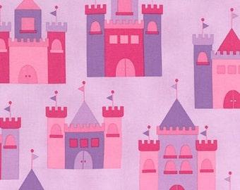 Princess Life Castles in Pink by Ann Kelle Fabric by Robert Kaufman, yard