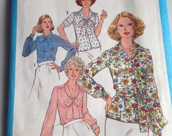 Simplicity Pattern, Vintage Blouse Pattern, Sizes 22 1/2 and 24 1/2, Etsy, Etsy Vintage, Vintage Pattern