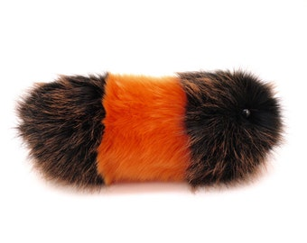 Caterpillar Stuffed Animal Cute Plush Toy Caterpillar Wooly Bear the Orange and Black Snuggle Worm Cuddly Faux Fur Toy Medium 6x18 Inches