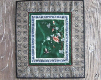 1970s Chinese Silk Embroidered Panel #1