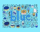 PRINT 8x10 Desserts that are BLUE