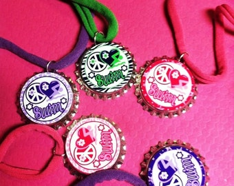 Swim Team Game Coach Gift Awards Birthday Party Favor Stretchy Bracelet 12pk