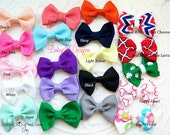 Girls Chirstmas Bows Baby Hair Clips / Newborn Hair Clips / Itty Bitty Baby Bow Clips / Toddler Girls Simple Newborn Bow Clips MORE COLORS