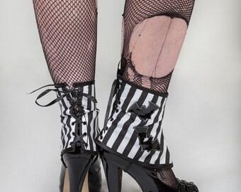 Stripes & Pvc Bats Spats, shoe covers.