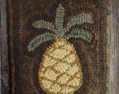 E-Pattern Simple Pineapple Hooked Rug Pattern