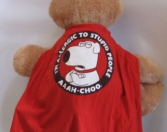 Child Apron or Cape:  Family Guy Brian Handmade by Fashion Green T Bags