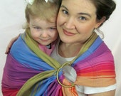 Ring Sling Baby Carrier Wrap Conversion - WCRS - Fuschia Agate - Reg or Tall length - DVD included